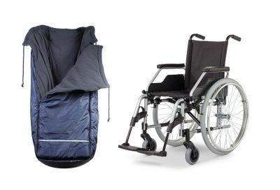 Rollstuhlschlupfsack & Rollstuhl